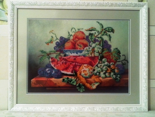Gobelin Gobelin- Autumn fruits (worked with beads)