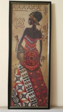 "Gobelin Tapestry ""African with pitcher"""